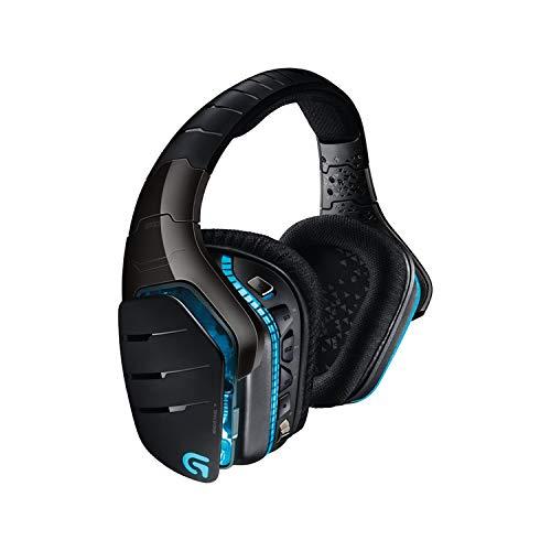 Logitech G933 Artemis Spectrum Wireless Gaming-Headset (7.1 Surround Sound, 40mm Pro-G Treiber, 2.4 GHz, 3.5mm Eingang, RGB-Beleuchtung, G-Tasten, PC/Mac/Xbox One/PS4/Nintendo Switch) schwarz