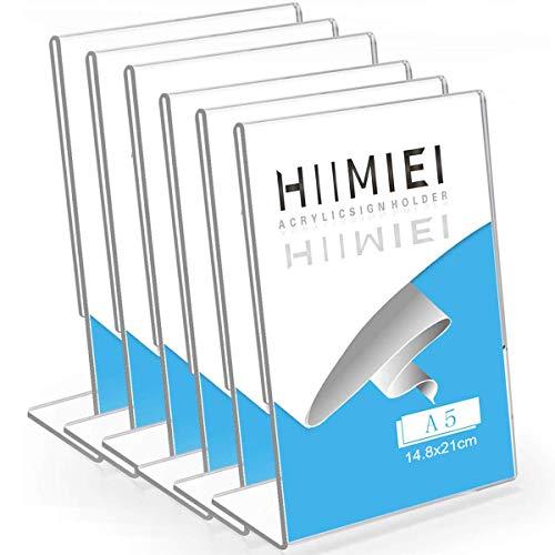 HIIMIEI A5 Tischaufsteller Schräg, 6...