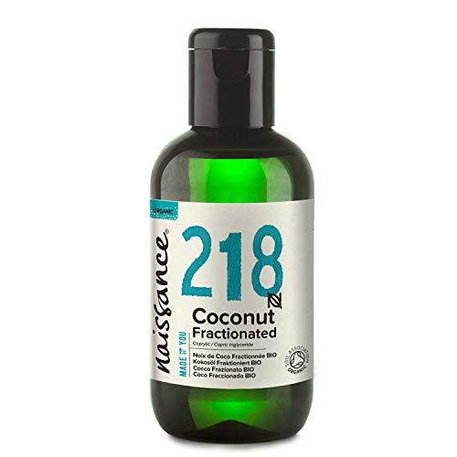 Naissance Aceite Vegetal de Coco Fraccionado BIO n. º 218-100ml - Puro, natural, vegano, sin hexano, no OGM - Ideal para aromaterapia, masajes y recetas artesanales.
