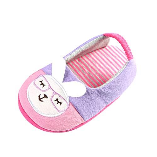 HDUFGJ Babyschuhe Krabbelschuhe Krabbelschuh Slipper Kinder Outdoor Schuhe Plus Samt rutschfeste Baumwollschuhe Flache Schuhe Wanderstiefel Schneeschuhe Outdoor Boots25 EU(Lila)