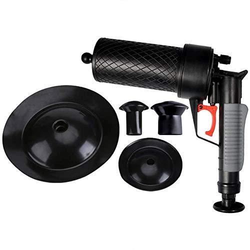 Cocoarm Pressluft Rohrreiniger Hochdruck Abflussöffner Luftpumpe Abfluss Blaster für Verstopfte Badewanne WC Rohr Badewanne mit 4 verschieden großen Saugnäpfen