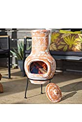 La Hacienda Plain Clay Chiminea - Small Yellow