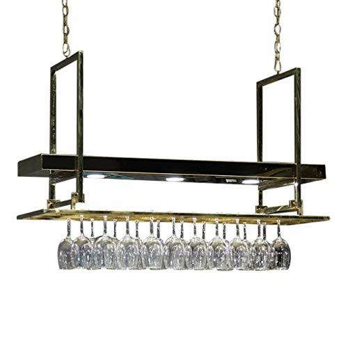 LXYPLM-WR1 Wine Rack Wine Organizer Rack Wine Rack Light Luxury Bar Chandelier Wine Glass Hanger Storage Shelf Ceiling Wine Rack Hanging Wine Glass Holder for Bars Restaurants Kitchens
