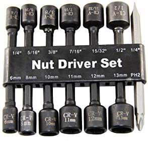 GOSWIFT Impact Driver Bit Set 14PCS Magnetic Drill Socket Adapter Metric Socket for Hex Wrench product image