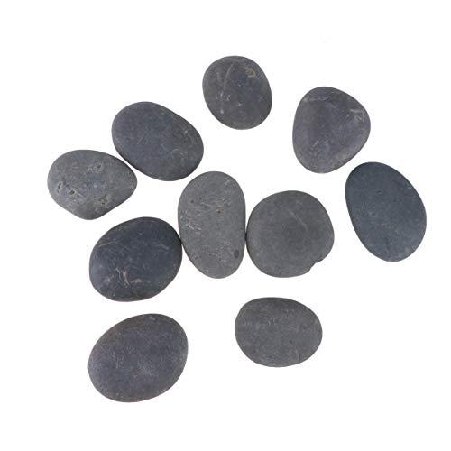 SUPVOX Rocas Negras para Pintar amabilidad Rocas Naturales Superficie Lisa Roca río Piedras de Cantos rodados para artesanías de Arte Pintura a Mano 10 Piezas
