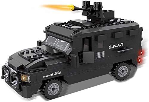 VanFty Ejército Set 423Pcs City SWAT de la Policía módulos previstos, Conjunto de Swat Ejército del equipo con el coche a prueba de explosiones y 4 cifras Mini SWAT, compatible otros bloques de constr