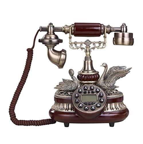 SMSOM Teléfono Antiguo Antiguo clásico de la antigüedad del Vintage para la decoración de la Oficina del hogar Teléfono Antiguo Vintage Retro Landline