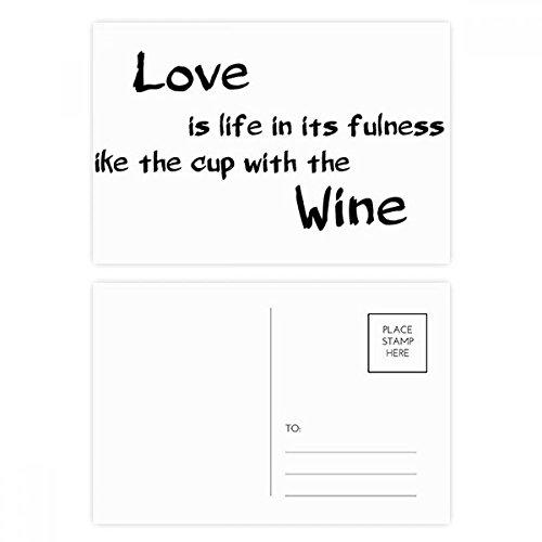 DIYthinker Beroemde Poëzie Quote Liefde Zoals Wijn Postkaart Set Verjaardag Thanks Card Mailing Side 20 stks 5.7 inch x 3.8 inch Multi kleuren