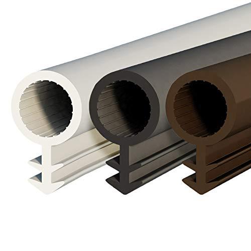 DQ-PP SCHLAUCHDICHTUNG | weiss | 10 Meter | TPE Gummi | STD-03 | Schlauchdurchmesser: 8mm Nutbreite: 3mm | Zimmertürdichtung Gummidichtug Dichtband Türgummi Türdichtung Zargendichtung Dichtprofil