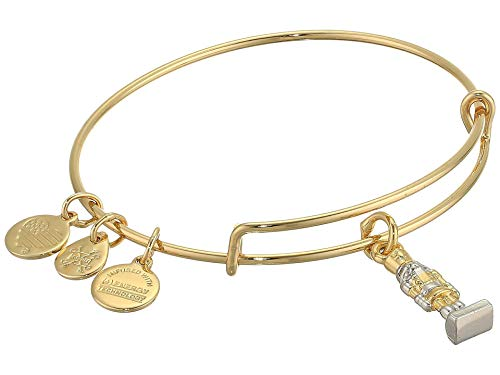 Alex and Ani Charity by Design, Nutcracker Bangle Bracelet, Two-Tone Shiny Gold One Size
