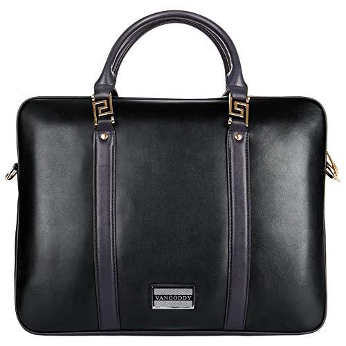 Genuine Leather Handbag 11.6 Inch Laptop Shoulder Bag Fit for Lenovo 100e, 100e Chromebook, 300e, 300e Chromebook, 500e Chromebook, IdeaPad 130S, Flex 11, Miix 630, Chromebook C330, Yoga 720
