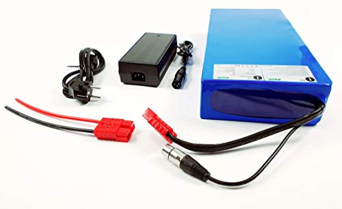 TZIPower Batteria da 72 V, 20 Ah, in PVC, per bicicletta elettrica e bicicletta, agli ioni di litio, kit di...
