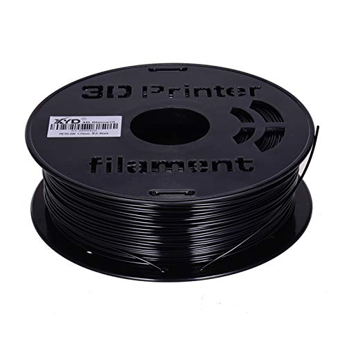 Sunydog Filamento PETG da 1 kg/bobina Ricariche materiale di stampa diametro 1,75 mm per stampanti 3D Penne da disegno, nero