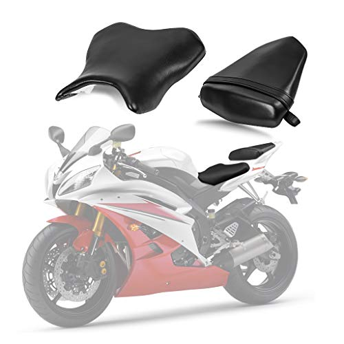 Front Rider Driver Rear Passanger Seat Pillion Cushion For Yamaha YZF R6 2006-2007