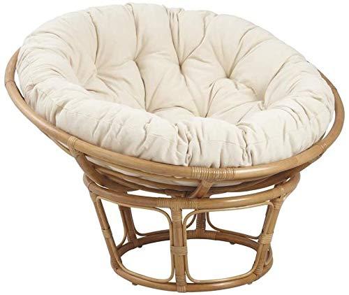 Almohadilla de la silla del algodón color sólido ronda cuna mecedora colgante,Beige