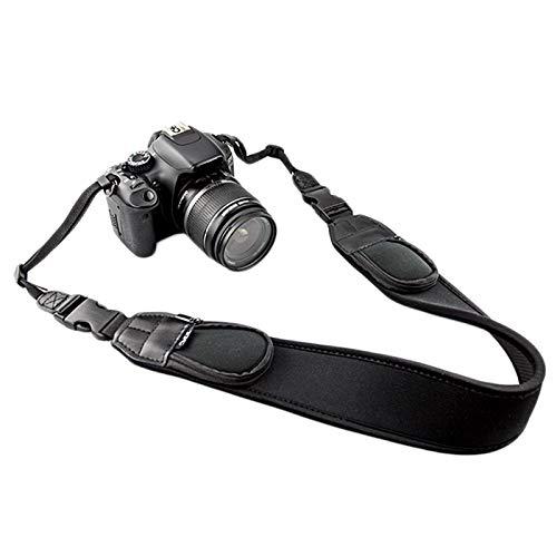 JJC NS-Q2 Neopren-Kameragurt (Gurt, Tragegurt, Trageriemen) mit RV-Taschen 142 cm - z.B. für DSLRs,