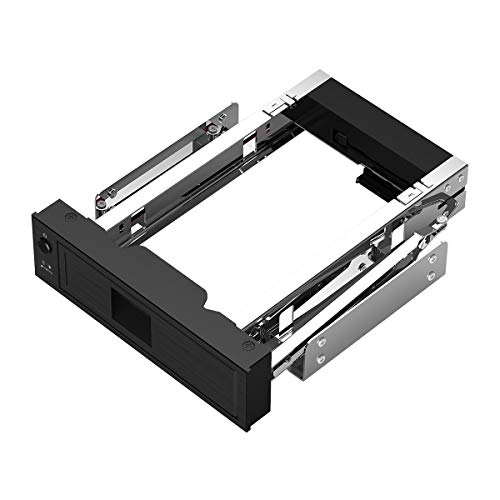 ORICO 1106SS 5.25 Trayless Hot Swap Mobile Rack CD-ROM 3.5 inch Internal SATA Hard Drive SSD Adapter - Black