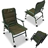 NGT XPR Carp Coarse Fishing Sturdy Chair with Arm Rests with Mud Feet