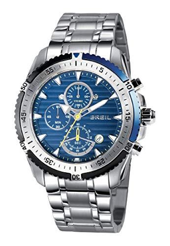 Orologio BREIL per uomo GROUND EDGE con bracciale in acciaio, movimento...