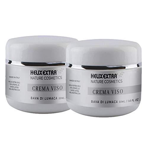 Offerta Helix Extra 2 X Crema Viso 50ml Bava di Lumaca 100% Made in Italy anti age anti-età antirughe ristrutturante idratante antietà antiage