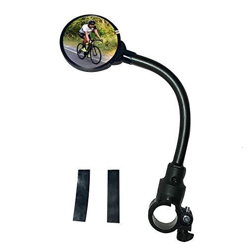 Specchietto Bici Manubrio, Specchietti Retrovisori Bici, 360 Gradi Regolabile Ruotabile Specchio Convesso Montato sul Manubrio per la Montagna Strada Bicicletta Ciclismo