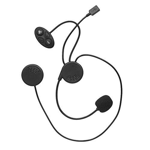 Docooler Moto Intercom, Casque BT et Intercom Kit Microphone Universel à l'unité, Casque de Moto Casque BT Casque 10 m Distance Interphone Mains Libres avec Micro pour Moteur