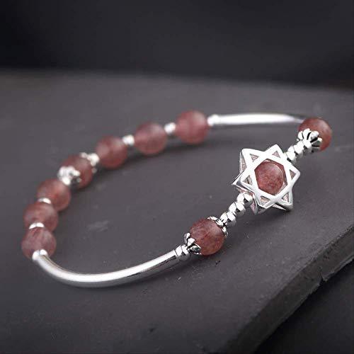 Aardbei kristal aquamarijn armband rekruut perzik bloesem huwelijk armband cadeau