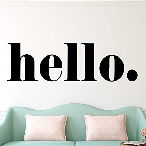 XL 102 cm X 30 cm Nordic Hello citations Stickers Muraux Art Vinyle Pour les enfants chambre décor de la chambre murale Sticker Mural décoration de la maison wallstickers papier peint