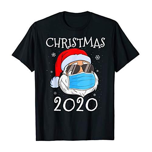Weihnachtsdruck T-Shirt O-Ausschnitt Kurzarm Frohe Weihnachten Bluse Cartoon Print...