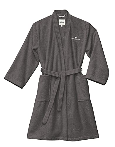 TOM TAILOR 0100300 Bademantel Kimono Größe: L dark grey