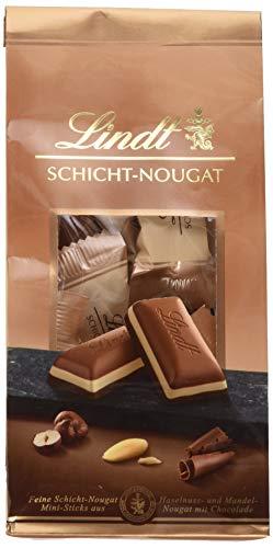 Lindt Schicht-Nougat Mini Sticks, pro Beutel, 4er Pack (4 x 120 g)