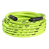 Flexzilla Air Hose, 3/8 in. x 50 ft., 1/4 in. MNPT Fittings, Heavy Duty, Lightweight, Hybr...