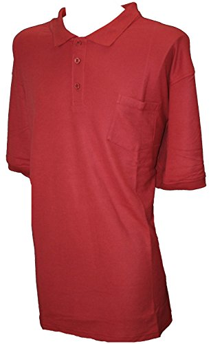Espionage Manches Courtes Piqué Polo Top Shirt Rouge 2XL