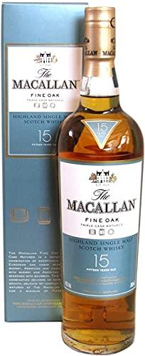 Rarität: Macallan Fine Oak Whisky 15 Jahre 0,7l inkl. türkisem Geschenkkarton