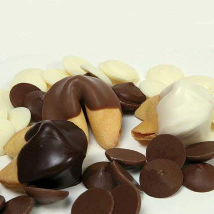 Dozen Chocolate Dipped Custom Fortune Cookies - Use Your Own Messages!