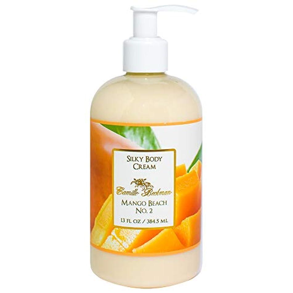 Camille Beckman Silky Body Cream, Mango Beach No. 2, 13 Ounce