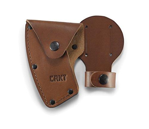 CRKT Bainha Freyr Machado: Couro de flor integral, vários botões, passadores de cinto para transporte seguro de machado, para uso com CRKT 2746 D2746