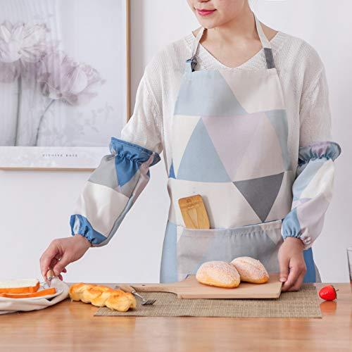 Keukenschort met grote zakken en extra lange banden, kleurrijk schort voor koken, bakken, tuinieren, knutselen, BBQ