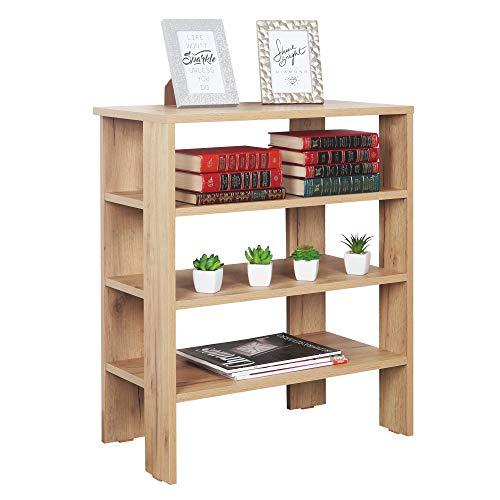 RICOO WM039-EG Estantería 70 x 60 x 32 cm Estante pequeño Librería Moderna Biblioteca Muebles de hogar Mueble almacenaje Madera Color Roble marrón