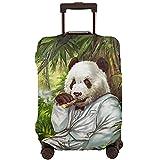 DJNGN Funda de equipaje de viaje de tabaco Panda, protector de maleta de viaje, funda de maleta antirrayas para equipaje de 18 a 28 pulgadas