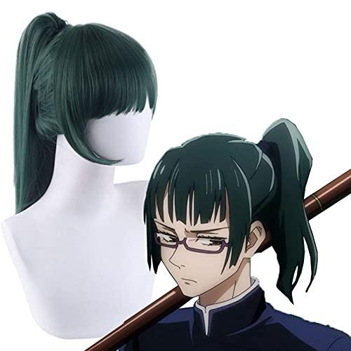 YZJYB Jujutsu Kaisen Cosplay Peluca Personaje de Anime Japonés Zenin/Gojo Satoru/Itadori Yuji Peluca Accesorio para Disfraces de Halloween Fiesta Cumpleaños Navidad,Zenin Maki