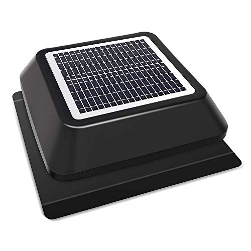HQST Solar Powered Roof Mount Adjustable Attic Fan with 30W Solar Panel