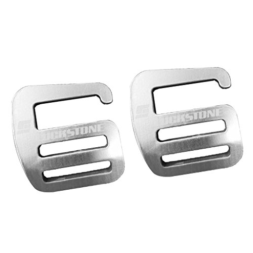 Aluminium G Haken Webbing Buckle Rucksack Gurt Band Strap Schnalle 25mm Silber (2 Stück Pack)