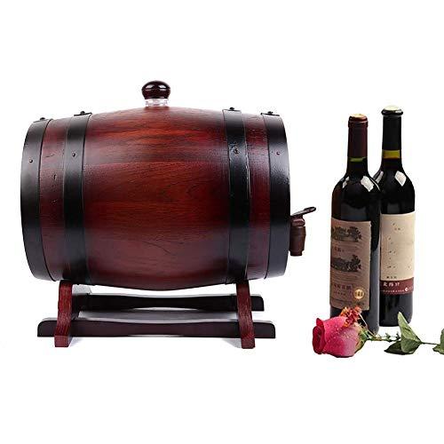 WCY La Herramienta de Almacenamiento en el hogar Vino, un Mini Barril de Vino de Roble Puro, Viene con un Soporte Horizontal, una válvula de presión y un Grifo.Adecuado para envejecer Sus