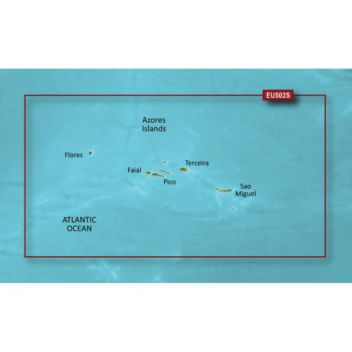 GARMIN VEU502S AZORES ISLANDS BLUECHART G2 VISION