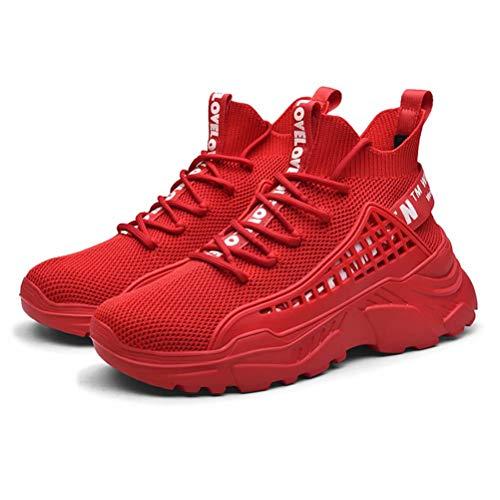 FUSHITON Hombre Zapatillas Casual Calzado Deportivo Moda Sneakers Zapatos Antideslizantes Transpirable Cómodo