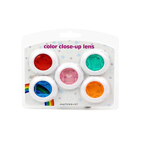 CLOVER 5 Colors Close Up Lens Filters Kit for Fujifilm Instax Mini 7S 8 Hello Kitty Camera