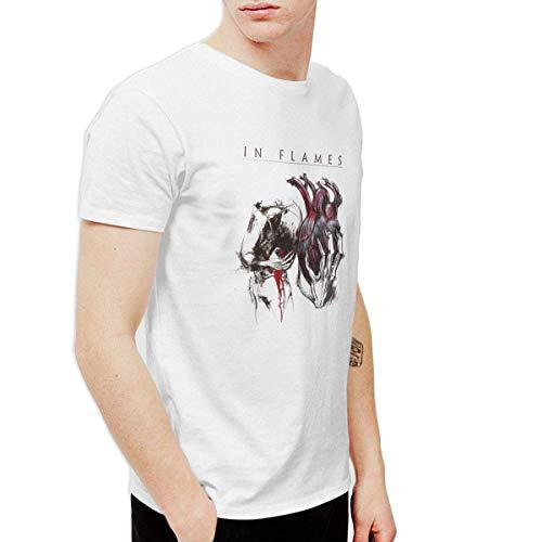 NJIASGFUIZ Herren T-Shirt Wwdcd in Flames Come Clarity, Weiß Gr. XXL, U6