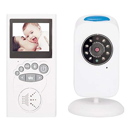 Draadloze Digitale Babyfoon, Twee-Weg Video-Intercom Babyverzorging Thuis Ondersteunt Meerdere Talen 2,4 Inch LCD-Infrarood Nachtrust Muziek Lied