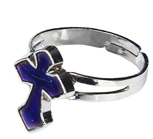 Ring van instelbaar formaat met kruis dat van kleur verandert met het - sfeer - geschenkidee